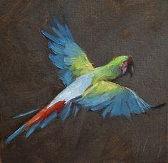 "Daily Paintworks - ""Psittaciformes"" - Original Fine Art for Sale - © Yuehua He"