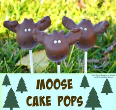 Moose Cake Pops, you'll never guess what the antlers are made out of!