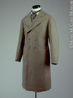 Frock coat 1880-1890, 19th century 111.5 cm Gift of the Estate of A. D. Savage M973.49.7 © McCord Museum Description Keywords:  Coat (40)