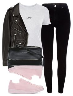 """Untitled #6712"" by laurenmboot ❤ liked on Polyvore featuring adidas Originals, River Island, Topshop, Jakke and Givenchy"