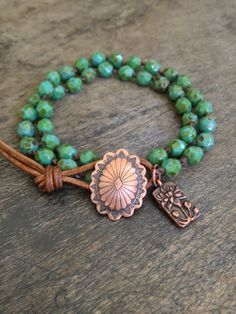 Turquoise Knotted Multi Wrap Bracelet Boho Chic. $25.00, via Etsy.