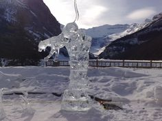 Lovely Ice Sculpture at Lake Louise