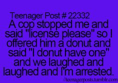 We laughed and laughed...and now I'm arrested.  :D  They spelled doughnut wrong though.
