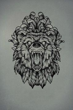 Background design for lions