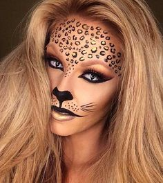 Black and Gold Cheetah Halloween Makeup