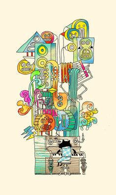 one man band (the jazz cat) Art Print