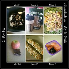 7 days of 21 day fix meals