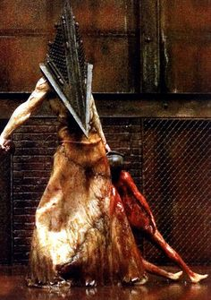 Pyramid Head from Silent Hill Silent Hill 2, Horror Icons, Horror Art, Scary Movies, Horror Movies, Scream, Evil Dead, Pyramid Head, Post Apocalyptic Fashion