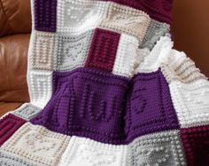 """A wonderful new design for that special someone in your life. The blanket repeats the words, """"YOU and ME and YOU and ME and. . . ."""" Also, makes a great wedding or bridal gift using the bride's wedding colors. The entire blanket requires only three crochet stitches - chain stitch, single crochet and the popcorn stitch. This is a pattern only and is not the finished product. The pattern includes the written instructions, chart, a list of materials and the yarn amounts needed for a finished…"""