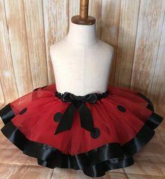 Ladybug Tutu Skirt, Ladybug Ribbon Tutu, Ladybug Birthday Tutus For Girls, Girls Dresses, Flower Girl Dresses, Tutu Dresses, Party Dresses, Ladybug Tutu, Ribbon Tutu, 1st Birthday Tutu, Skirts
