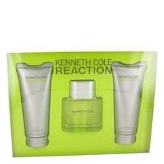 Kenneth Cole Reaction Gift Set By Kenneth Cole. Kenneth Cole Reaction Cologne by Kenneth Cole, Reaction for men by kenneth cole was introduced in 2004 as a masculine aroma. This manly scent is sharp and refined. This scent possesses a blend of musk, sandalwood, patchouli, green apple and watermelon. Reaction for men is recommended for daytime wear.