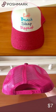 Eat Beach Sleep Repeat SnapBack Cap An Eat Beach Sleep Repeat SnapBack Cap.  Only worn once, and has no wear. Accessories Hats