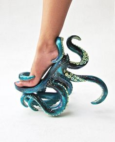 Octopus-Inspired Stilettos - These Unusual High Heels Feature Intricate Octopus . - Octopus-Inspired Stilettos – These Unusual High Heels Feature Intricate Octopus Tentacles (GALLERY) Source by - Funky Shoes, Cute Shoes, Me Too Shoes, Weird Shoes, Awesome Shoes, Trendy Shoes, Stilettos, Crazy Heels, Cool High Heels