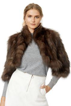 Buy Cooper Jacket by Adrienne Landau for $279 from Rent the Runway. Timeless Fashion, Vintage Fashion, Faux Fur Bolero, Diy Clothes Design, Vintage Fur, Vintage Ideas, Vintage Games, Fur Clothing, Fashion 2017