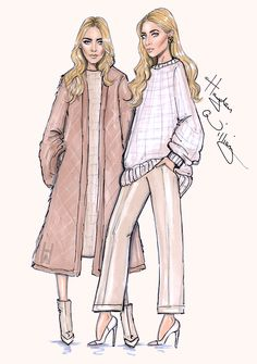 Mary-Kate & Ashley 'Modern Classics' by Hayden Williams. Inspired by THE EDIT cover by NET-A-PORTER.