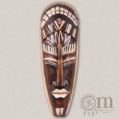 Bemalte afrikanische Holzmaske (30cm) Porsche Logo, Kos, Surfboard, Bali, Wordpress, African, Wood Carvings, Masks, Surfboards