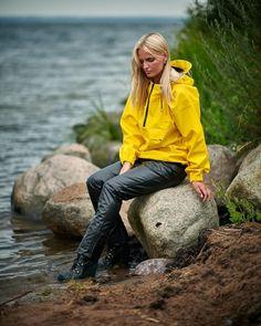 Rain Suit, Going To Rain, Yellow Raincoat, Rain Wear, Rain Jacket, Windbreaker, Women Wear, Style Inspiration, Pullover