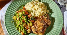 Zöldséges csirkeragu kuszkusszal   Street Kitchen Gazpacho, Rice, Chicken, Food, Essen, Meals, Yemek, Laughter, Jim Rice