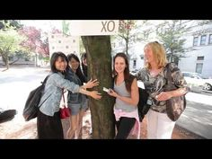 Eminence Organic Skin Care Celebrates 1 Million Trees Planted, by hosting a tree hugging event. Eminence plants a tree for every product sold as part of their Forests for the Future initiative | #GivingBack