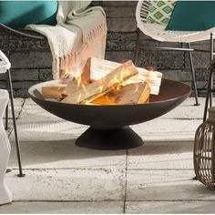 Cast Iron Wood Burning Fire Pit