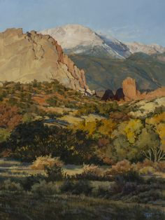 October Sunrise Garden of the Gods by Darcie Peet.