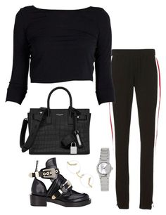 """""""Untitled #7068"""" by ijustlikefashionman ❤ liked on Polyvore featuring Pam & Gela, Balenciaga, Yves Saint Laurent and Casio"""