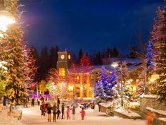 Skiing in Canada looking magical!💫 Ski And Snowboard, Snowboarding, Skiing, Ski Canada, Banff, British Columbia, Worlds Largest, Night Life, Ski