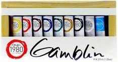 Gamblin-1980-Oil-Color-Set Oil Painting Supplies, Art Supplies, Oil Additives, Paint Prices, Blue Pigment, Paint Tubes, Titanium White, Paint Line, Gel Medium