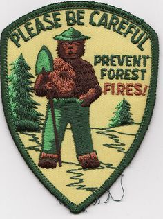Smokey Bear Patch - Please Be Careful Prevent Forest Fires