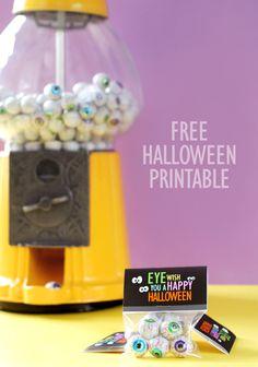 fun printable for Halloween treats