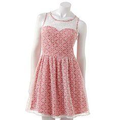 lc-lauren-conrad-floral-fit-flare-dress
