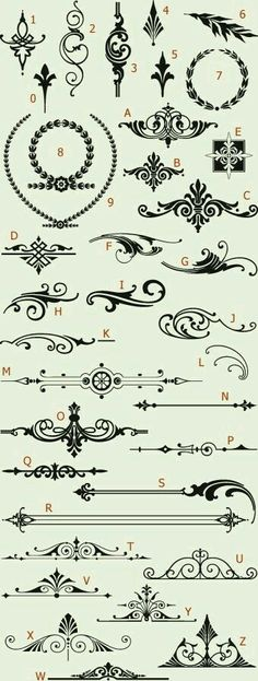 Pretty scrolls and shapes