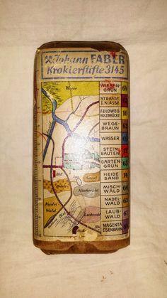 Mapa ALEMÁN de la primera guerra mundial haciendo en caja de color lápiz Set Johann Faber
