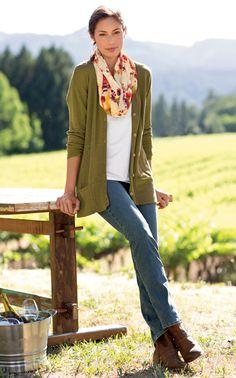 Simple fall style via J. Jill