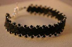 A Free and Elegant Tila Bead Bracelet Beading Pattern: The Finished Elegant Tila Bead Bracelet.