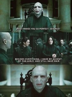 Harry potter- lord Voldemort- he who must not be named- funny- humor- nose- Severus Snape Harry Potter Puns, Harry Potter World, Harry Potter Hair, Harry Potter Funny Quotes, Harry Potter Universal, Wattpad, Hogwarts, Slytherin, Harry Potter Funny Pictures