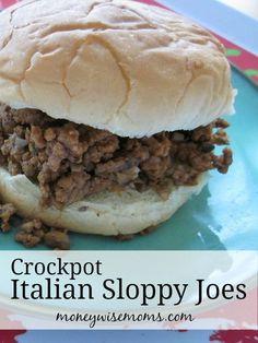 Crockpot Italian Sloppy Joes - Easy family dinner that's naturally gluten-free