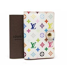Louis Vuitton Agenda Mini Monogram Multicolor Other White Canvas M92653