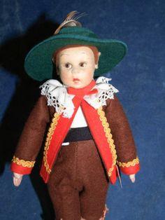 Old Cloth Felt International Lenci Doll w Tags Miniature Mascotte | eBay