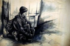 Homeless, Ink and water, 2012 John Kuckian