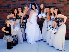 my bridesmaids in our marilyn poses! photo by che bell. dresses by alexia designs