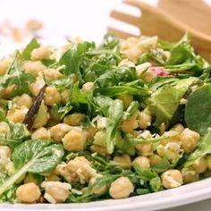 Salade verte à l'avocat et aux pois chiches