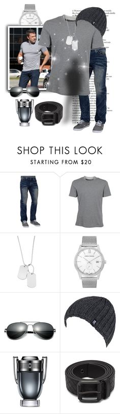 """""""Untitled #8318"""" by princhelle-mack ❤ liked on Polyvore featuring Affliction, Brunello Cucinelli, Variations, Larsson & Jennings, Heat Holders, Paco Rabanne, Bottega Veneta, men's fashion and menswear"""