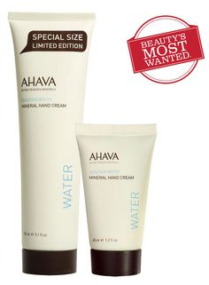 AHAVA is the brand for natural skincare. They provide products packed with moisture boosting minerals and skin friendly ingredients straight from the Dead Sea - it's no wonder an AHAVA hand cream is sold somewhere in the world every 25 seconds! Discover the minerals of the Dead Sea with AHAVA!