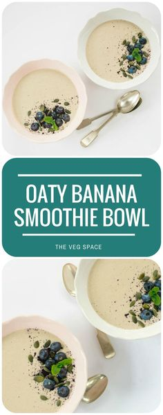 This pretty-as-a-picture smoothie bowl has all the benefits of porridge, but is as quick and easy to make as a smoothie. Keeps hunger locked up till lunch! Vegan and vegetarian. Homemade Smoothies, Yummy Smoothie Recipes, Blender Recipes, Healthy Breakfast Recipes, Healthy Smoothies, Healthy Recipes, Fruit Smoothies, Breakfast Ideas, Delicious Recipes