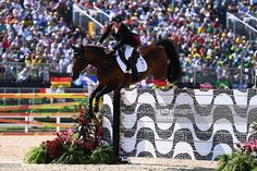 Nick Skelton of Great Britain rides Big Star during the Individual Jumping 3rd Qualifier during Day 12 of the Rio 2016 Olympic Games at the Olympic Equestrian Centre on August 17, 2016 in Rio de Janeiro, Brazil.
