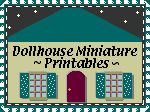 Minature Printables for dollhouses sourcebook.  Includes awesome teeny tiny shiny brite box for Christmas!  Totally printing a bunch for the snow village this year.
