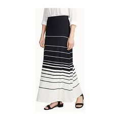 637b234b52789 Contemporaine Nautical stripe maxi skirt ( 44) ❤ liked on Polyvore  featuring skirts