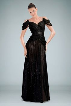 Gorgeous A-line Evening Gown with Sequined Lace Overlay and Delicate Pleats, Quality Unique Evening Dresses - Dressale.com