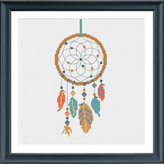 cross stitch pattern dreamcatcher modern cross by Happinesst